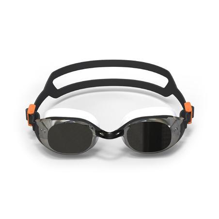 500 B-FIT Swimming Goggles - Black Silver, Mirror Lenses