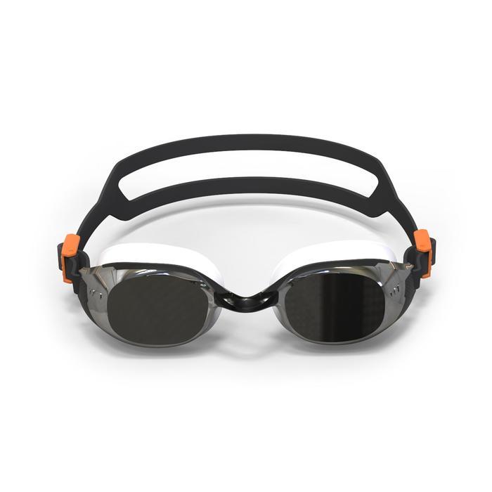 Gafas de natación B-FIT negro plateado cristales espejo