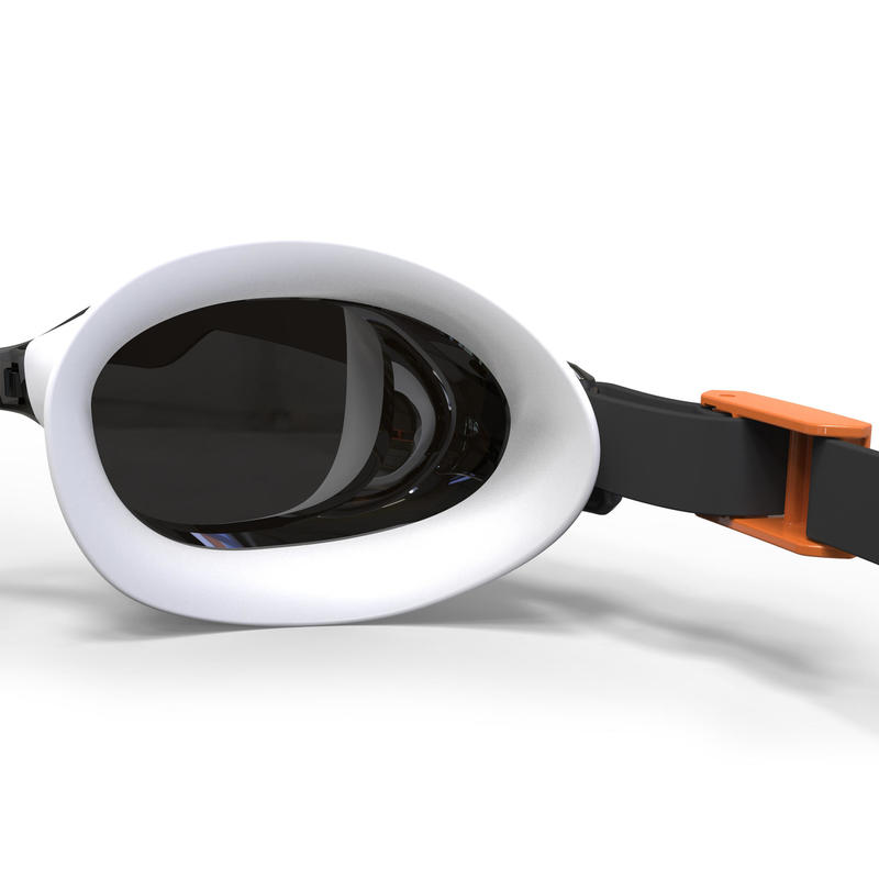 B-FIT Swimming Goggles - Mirrored Black Silver