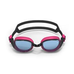 Lunettes de natation 500 B-FIT Noir Rose verres clairs