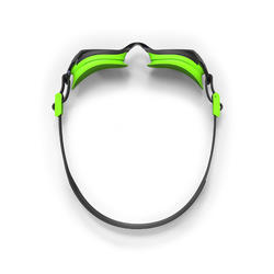 500 B-FIT Swimming Goggles, Black Green, Smoke Lenses
