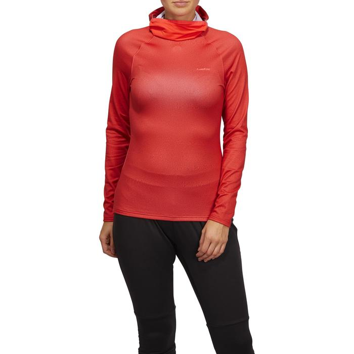 Sous-vêtement haut de ski femme Freshwarm Neck Rouge