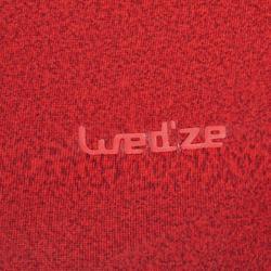 Camiseta térmica interior Nieve y Esquí Wed'ze Freshwarm Neck mujer roja capucha