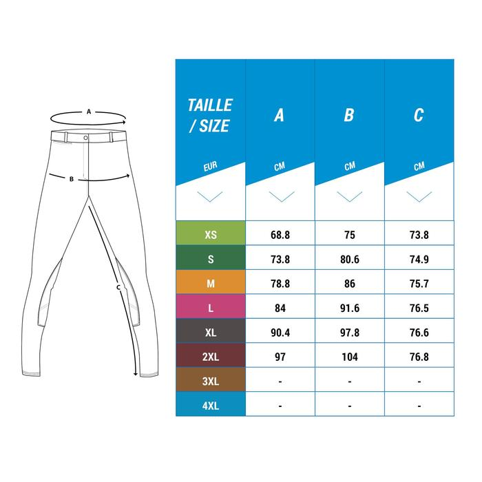 Pantalon Concours équitation homme BR140 basanes agrippantes blanc - 1248923