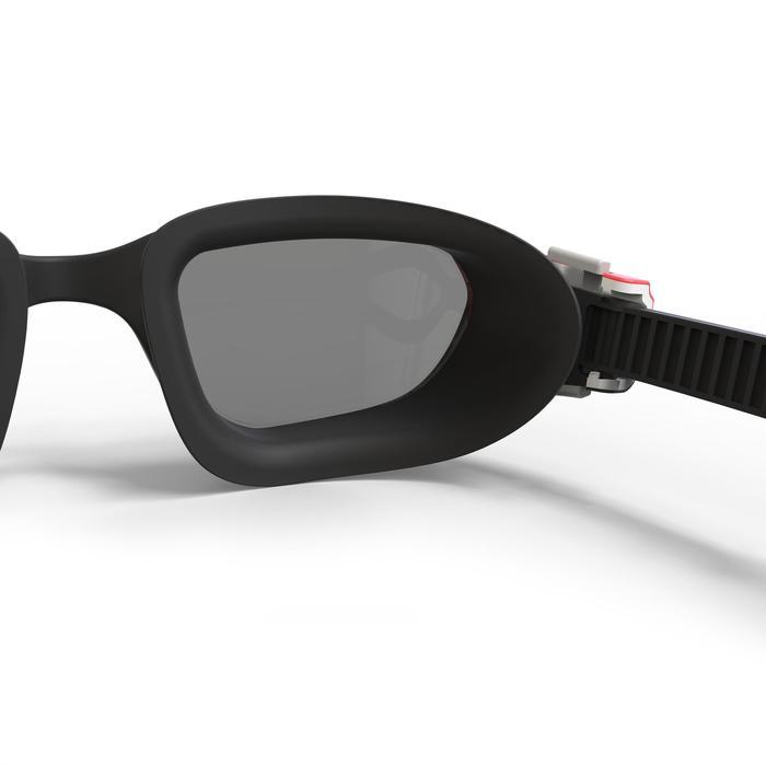 Gafas de natación 500 SPIRIT Talla L Negro Rojo cristales ahumados
