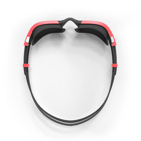 Lunettes de natation 500 SPIRIT Taille G Noir Rouge verres fumés
