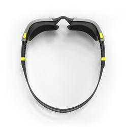 Gafas de natación 500 SPIRIT Talla L negro gris cristales espejo