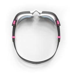 Schwimmbrille Spirit Größe S weiß/rosa ungetönte Gläser