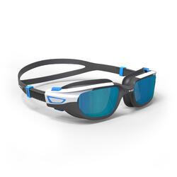 Gafas de natación 500 SPIRIT Talla S negro azul cristales espejo