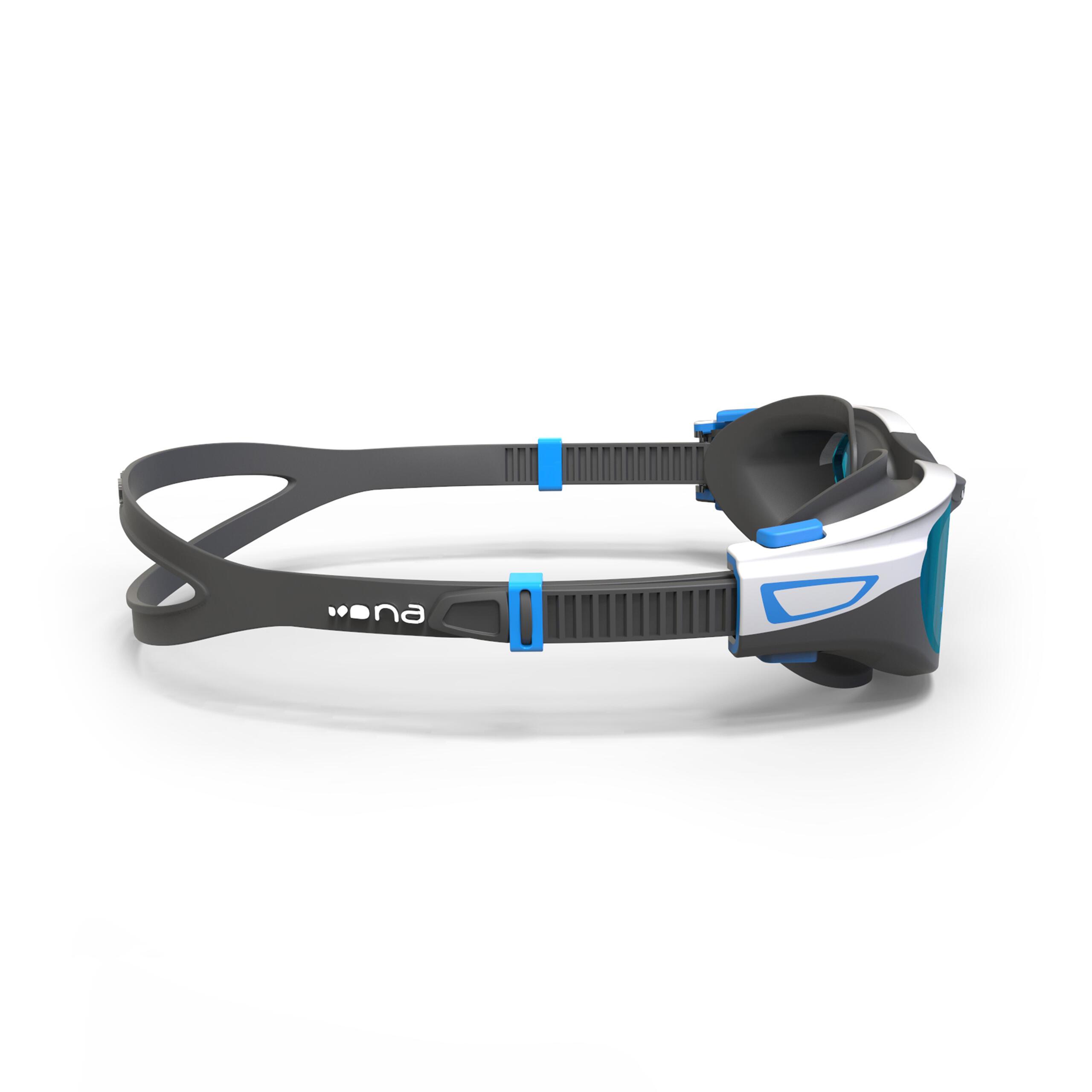 Swimming Goggles Spirit Mirror Lenses Small- Black Blue