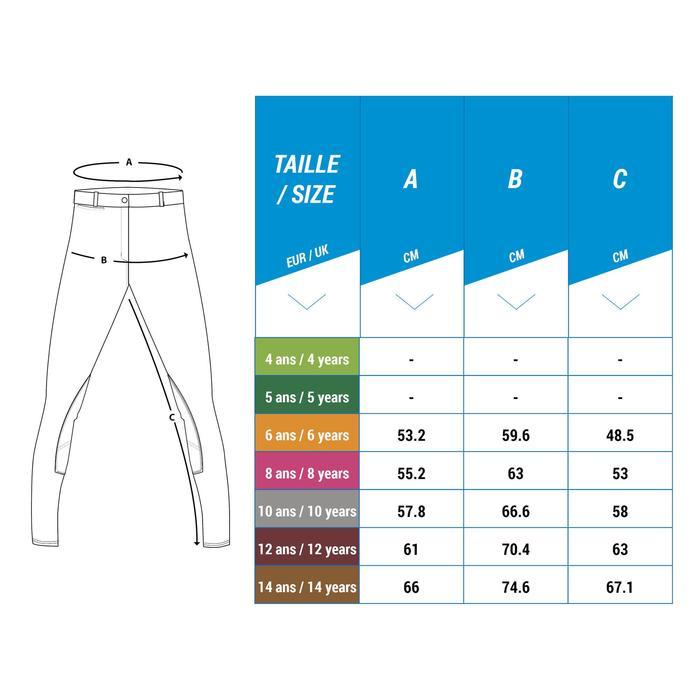 Reithose 120 Kniebesatz Kinder marineblau mit rosa Punkten