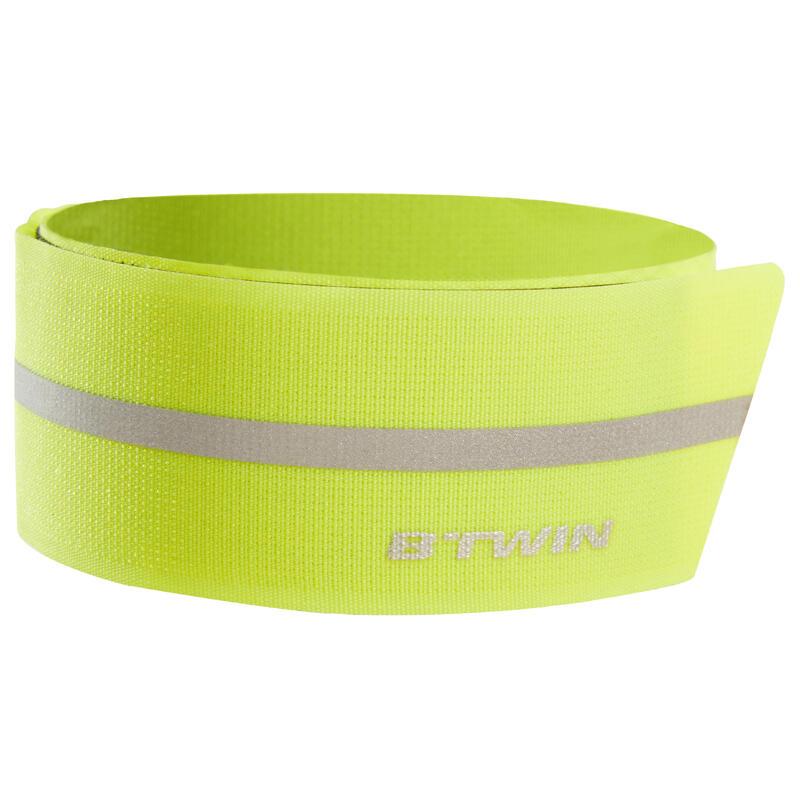 Rip-Tab Cycling Trouser Clip 500 - Yellow