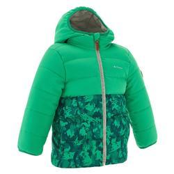 Girl's mauve X-Warm hiking padded jacket