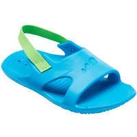 Sandales natation bébé bleues élastique vert