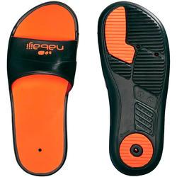 Sandales natation SLAP 500 noir orange - Homme