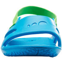 Babies' Pool Sandals Blue with Green Elastic