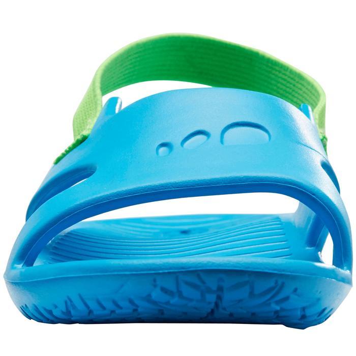 Badslippers kleuters blauw groen elastiek