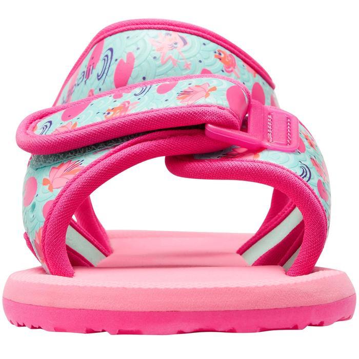 Chinelos de natação bebé rosa estampado flamingo