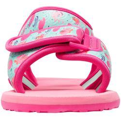 Sandalias de natación bebé rosa flamingo
