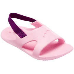 Baby's Swimming Sandals - Pink with Purple Elastic