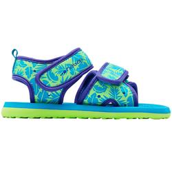 Baby Printed Swimming Sandals - Green Leaves