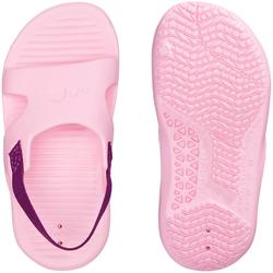 Badslippers peuters elastiek roze paars