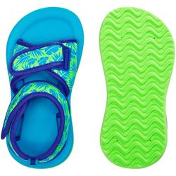 Sandalen voor peuters groen met bladprint