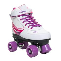 Patines 4 Ruedas Quad Roller Wave Power Niña Blanco Lila