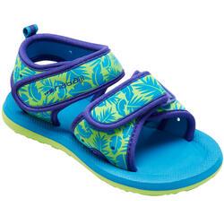 嬰幼兒款印花游泳涼鞋 - 綠葉圖案