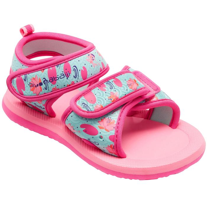 Sandales natation bébé rose flamingo