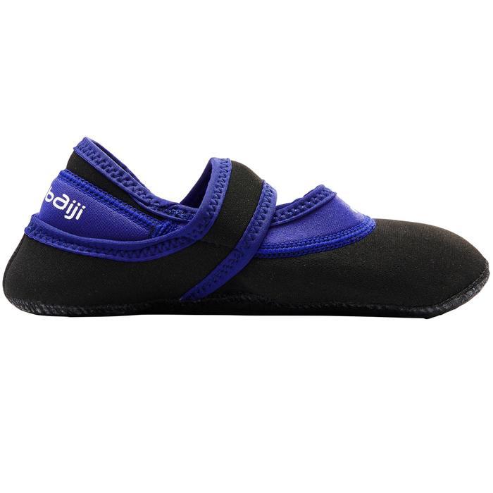 Ballerina's voor aquagym of aquafitness, zwart/blauw