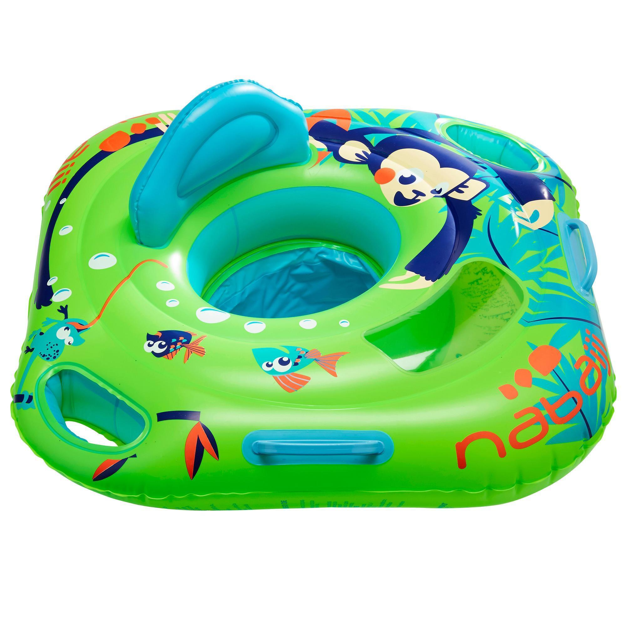 Baby Seat Swim Ring with Window and Handles - Monkey | Nabaiji