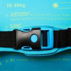 Manguitos Cinturón Natación Nabaiji Verde/AzulEstampado Chimpancé 15 a 30kg