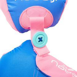 """Manguitos-cinturón evolutivo TISWIM niños rosa estampado """"FLAMANT ROSA"""""""