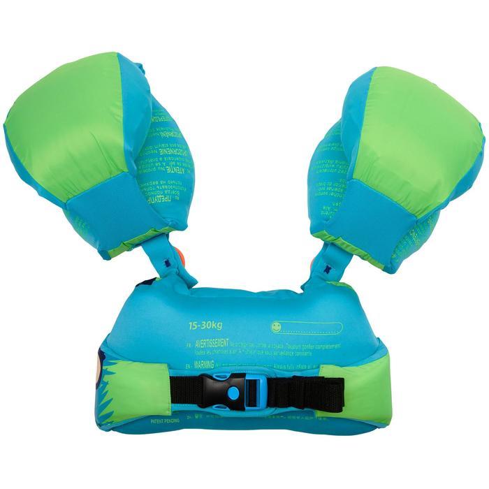兒童適應臂圈腰帶TISWIM,綠色「猴子」印花