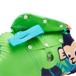 "Green child's TISWIM adaptable armband-waistbands printed ""MONKEY"""