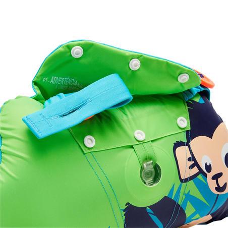 Дитячі регульовані нарукавники і пояс Tiswim - Зелені з принтом