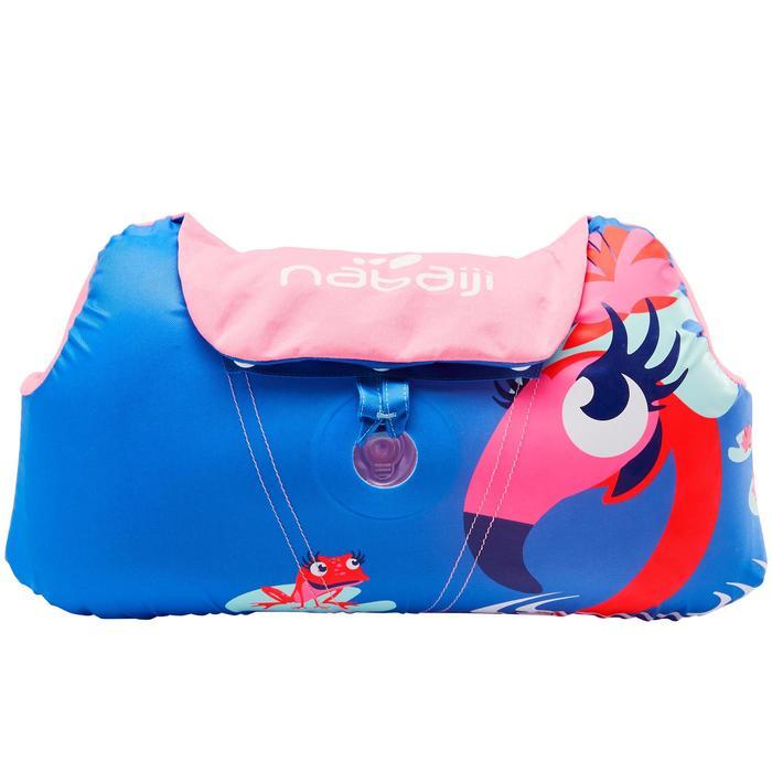 兒童適應臂圈腰帶TISWIM,「粉色紅鶴」印花
