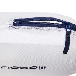Kleine Badetasche 150 7L wasserfest blau/weiß