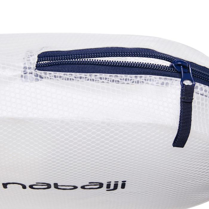 Waterdicht zwemtasje 7 l blauw/wit
