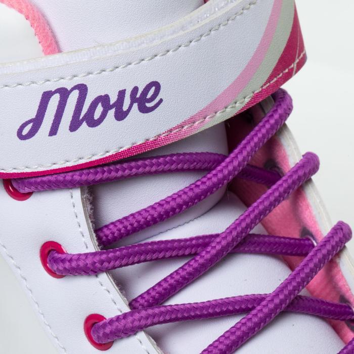 Rollschuhe Quad Fitness Wave Kinder rosa