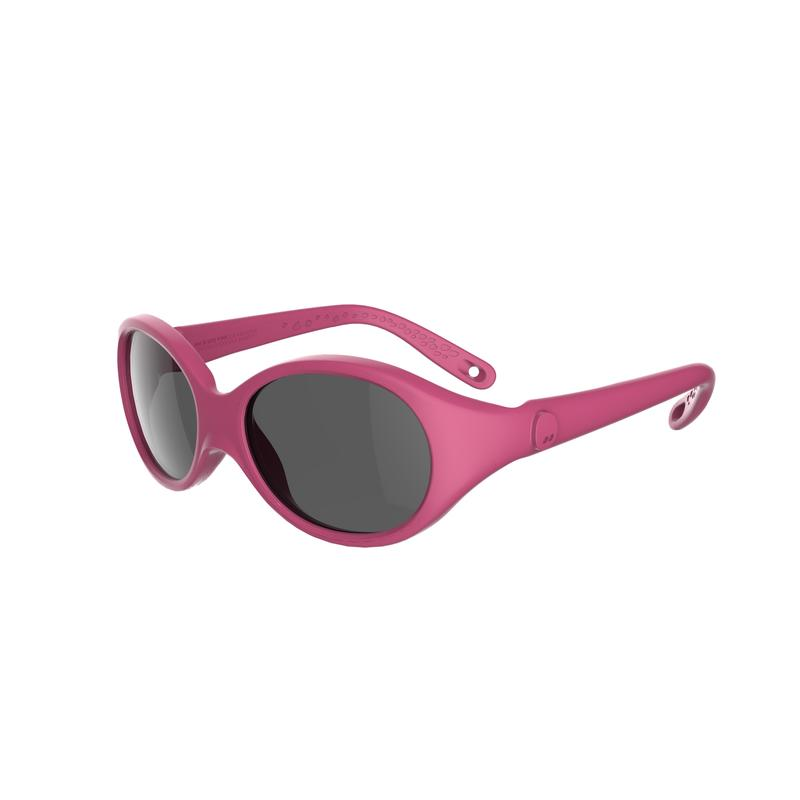 Baby Hiking Sunglasses (Age 6-24 Months) MH B 500 Category 4 - Pink