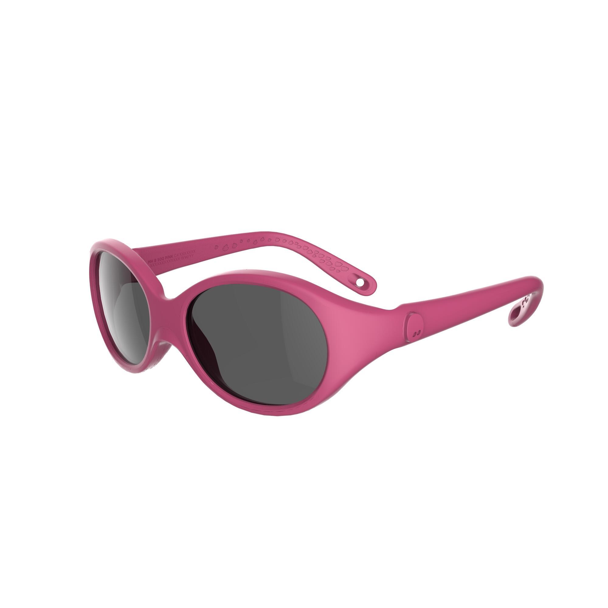 Lentes de sol de senderismo bebé 6 - 24 meses MH B 500 rosa categoría 4