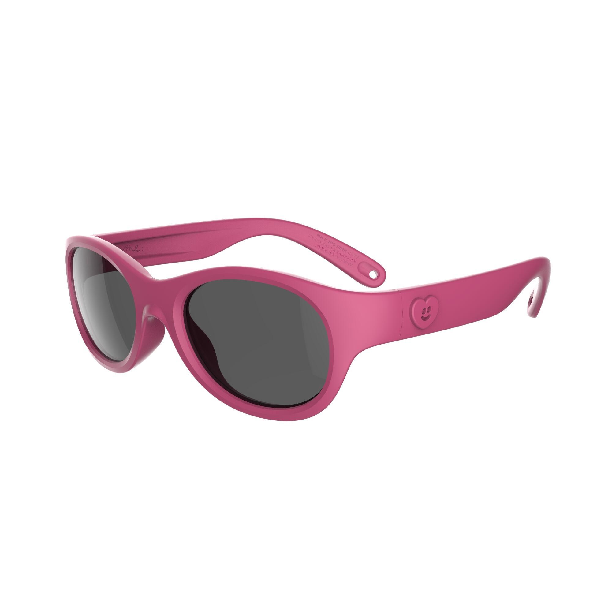 Gafas de sol de senderismo niños 2-4 años MH K 100 rosa categoría 3