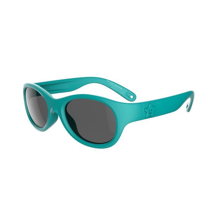 Lunettes de soleil randonnée enfant 2-4 ans MH K 100 turquoise catégorie 3