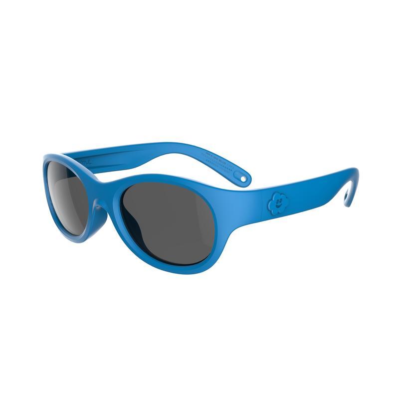 Lunettes de soleil randonnée enfant 3-5 ans MH K100 bleues catégorie 3