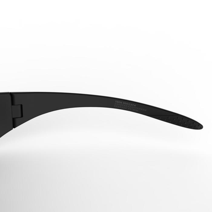 Gafas de sol de senderismo para niños de 7-9 años TEEN 300 negras categoría 4