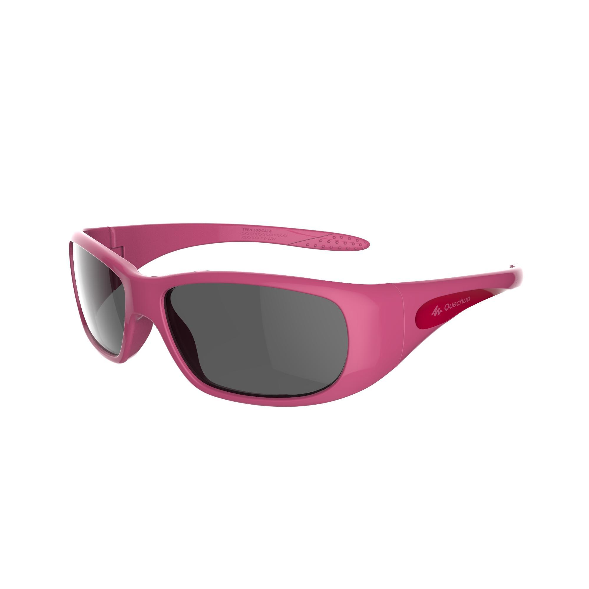 Lentes de sol de senderismo niños 7-9 años TEEN 300 rosa categoría 4