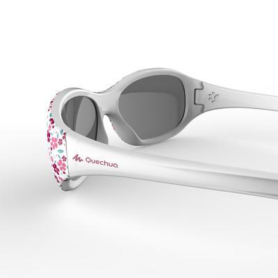 Дитячі сонцезахисні окуляри MH K 520 для хайкінгу, Кат. 4, 2-4 роки - З квітами