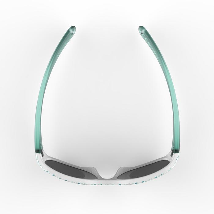 Zonnebril trekking voor kinderen 2-4 jaar MH K 520 groene blaadjes categorie 4